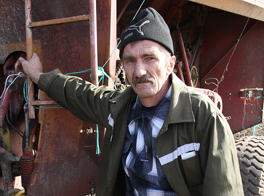 Механізатар  Уладзімір Герасіменка