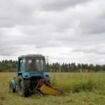 В Березинском районе трактор косил траву и наехал на мужчину