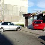 В Березе авто-леди «припарковала» иномарку в хлебном магазине