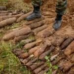 В Орше во дворе частного дома найдено 35 снарядов времен войны