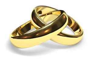 Золотые свадебные кольца фото.