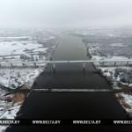 Движение по понтонному мосту через Припять приостановлено из-за мороза