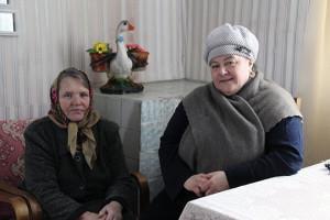 Жанна Булыга (справа)  з Ларысай Васільевай