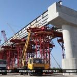 Сборку металлического пролетного строения на мосту через Припять планируют завершить к 15 сентября