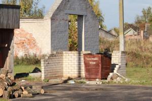 На тэрыторыі зернясклада ў Петрыкаве